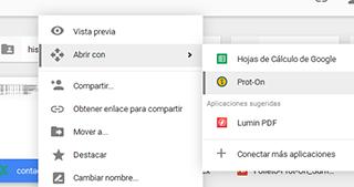 Abrir con Google Drive