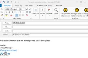 Integración Outlook. Protege tus correos electrónicos y adjuntos.