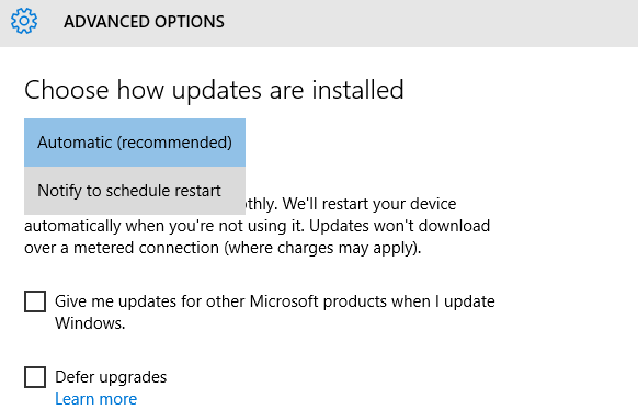 updates windows10