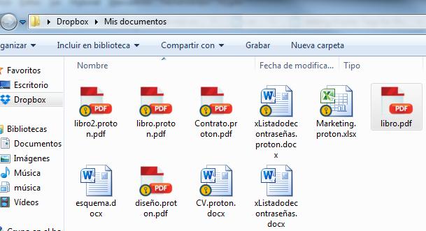 Proteger archivos Dropbox