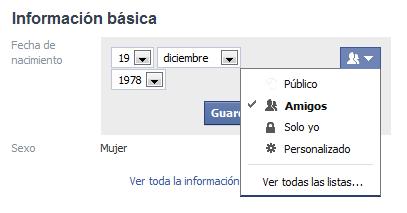 Configura la privacidad de tu facebook