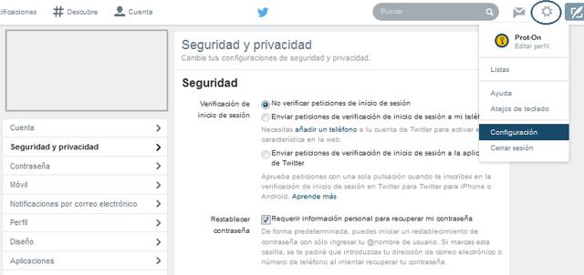 privacidad seguridad twitter