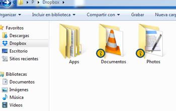 Carpeta protegida en Dropbox