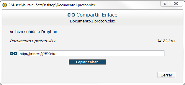 Link protegido Dropbox