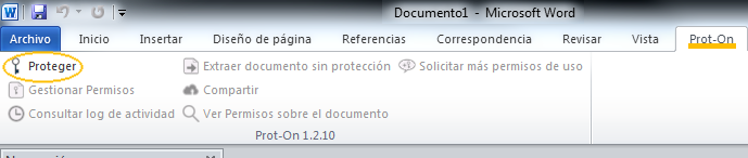 Proteger documento word